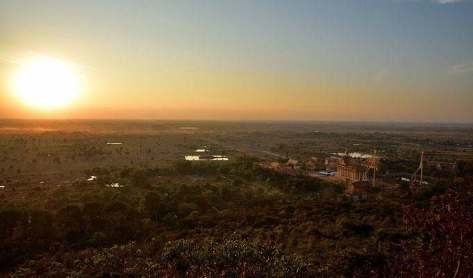 Sonnenuntergang von Oudong