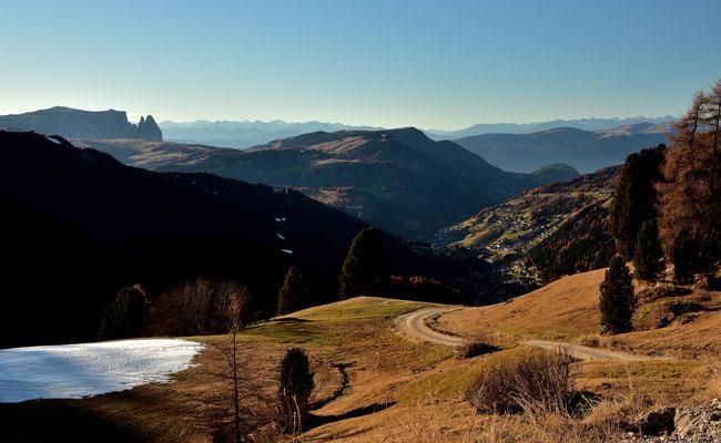 Blick in das Tal von Wolkenstein
