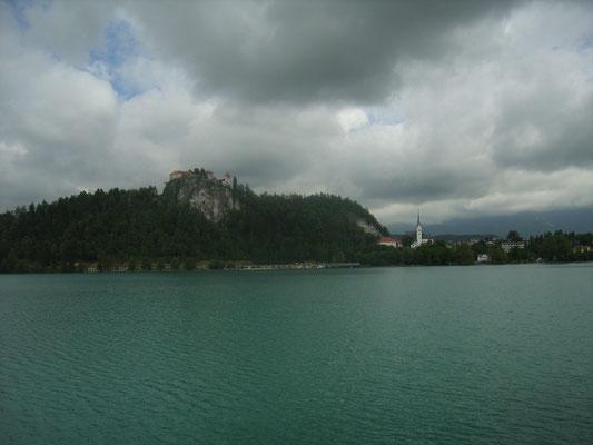 Was für ein Anblick auf die Burg von Bled