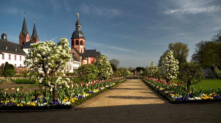 Der Klostergarten in Seligenstadt ist ein echter Anziehungspunkt und wurde nach alten Plänen gestaltet.