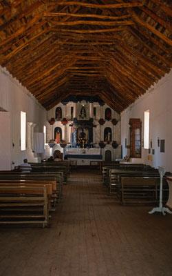 Die Kathedrale wurde mit Kakteenholz gebaut.