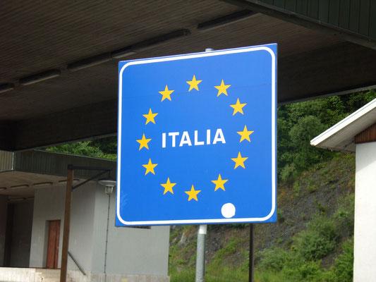 Die grenze zu Italien