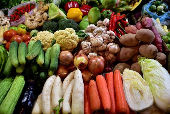 Gemüse in der Markthalle