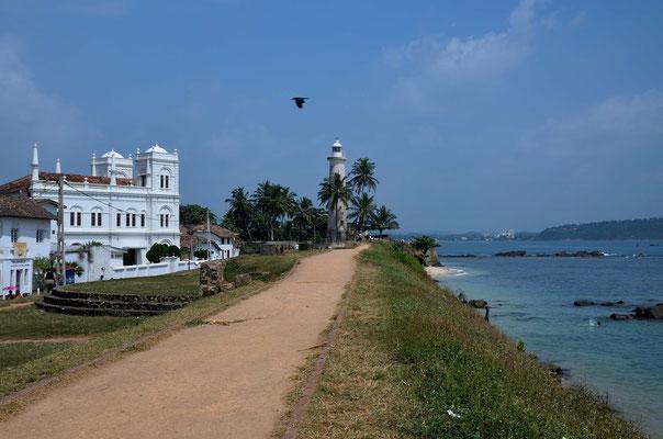 Der Leuchtturm von Galle im süden Sri Lankas