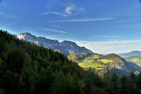 Blick nach Ettenberg und den Untersberg