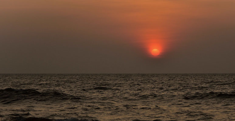 Sonnenuntergang am Strand von Negombo auf Sri Lanka