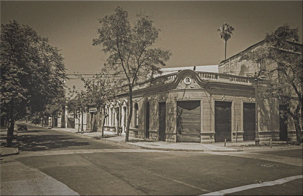 """Im Künstlerviertel """" Bellavista"""" in Santiago de Chile."""