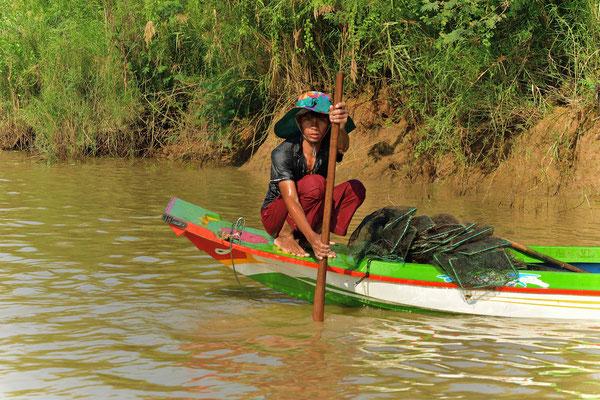 Fischer auf dem Sangker