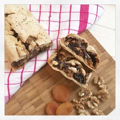 Glutenbrije broodrol met Fuit & Noten