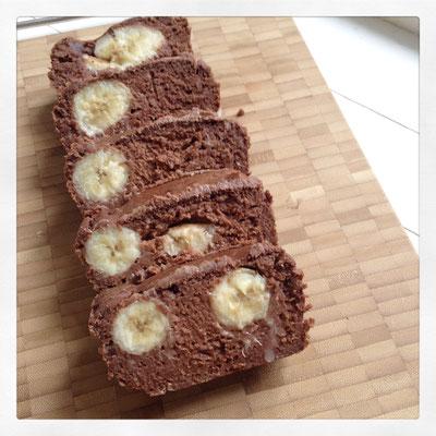 Sticky Banaan/chocolade cake