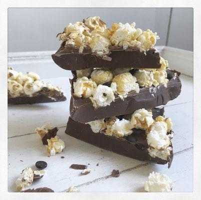 Salty-popcorn chocolade repen