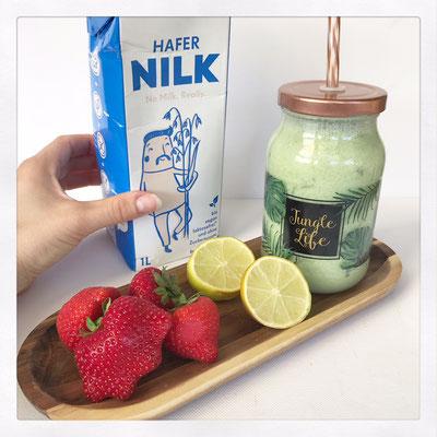 Groene smoothie met havermelk van NILK
