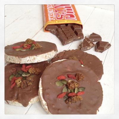 Rijstwafels met Tonychocolonely caramel & zeezout chocolade