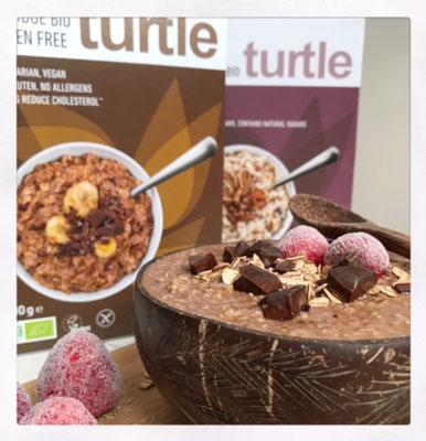 Chocolade havermout van Turtle Cereals