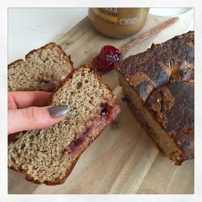 Peanutbutter & jelly pindakaas brood