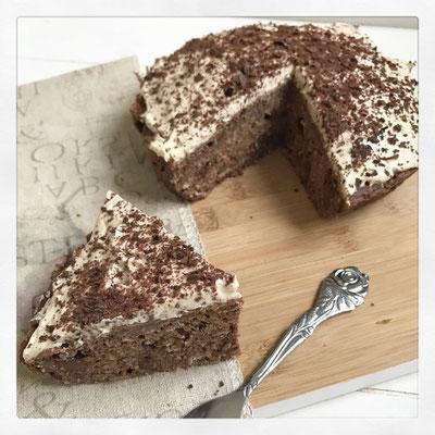 Eiwitrijke pindakaas/chocolade cake