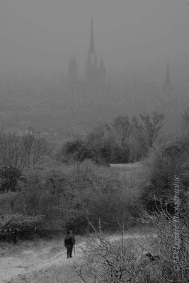 Rouen et son manteau blanc