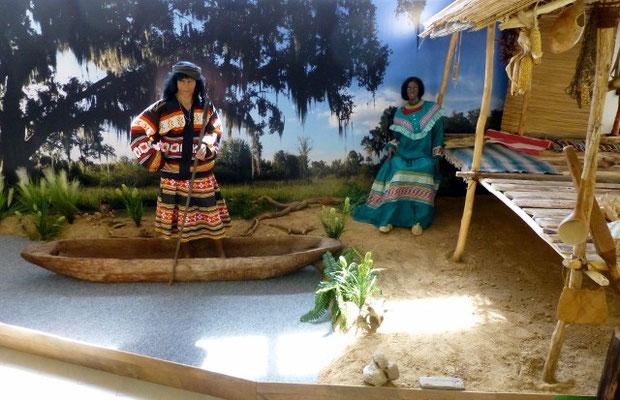"""""""Südöstliches Waldland""""   Nachempfundene Florida Landschaft  der Seminolen und Creeks  COPYRIGHT: Thomas Merbt"""