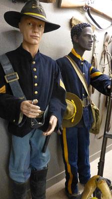 """""""Die neuen Herren in Amerika""""   Hier 19. Jahrhundert, Buffalo Soldiers und """"Blauröcke"""" (US-Soldaten) COPYRIGHT: Thomas Merbt"""