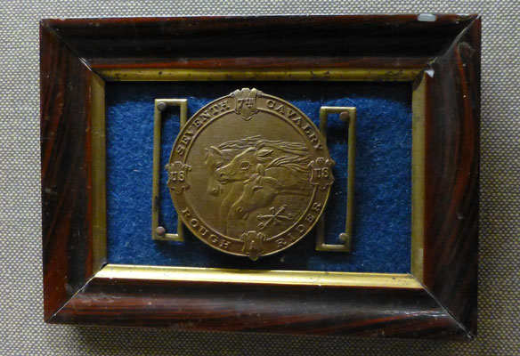 Originalexponat Gürtelschließe der 7th Cavalry    COPYRIGHT: Thomas Merbt