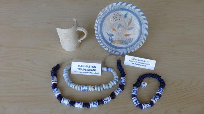 Originale Manhatten Trade Beads   Peter Minuit hat mit solchen Glasperlen, das Gebiet von New York den Indianern abgekauft!   COPYRIGHT: Thomas Merbt