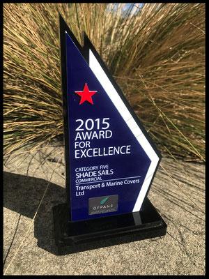 2015 OFPANZ Award for Commercial Shade Sails