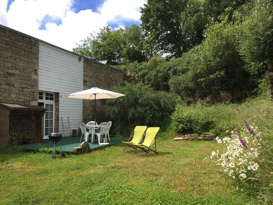 La seconde terrasse privative au Nord de la maison en toute tranquillité !