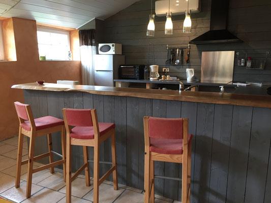 La cuisine ouverte sur le vaste séjour
