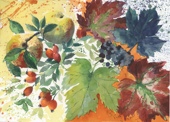 Herbststillleben auch als Karte neu beim Präsenzverlag
