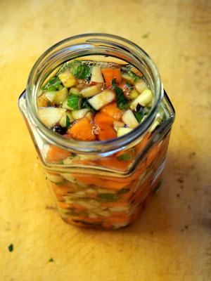 Letzter Blick auf das frische Gemüse, bevor es gärt.