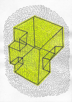 Micro Zone #007 Ink on paper 210 x 148 mm (A5) 2014, 2015