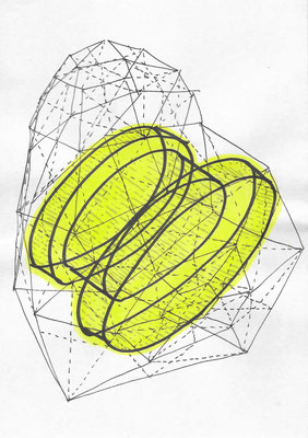 Micro Zone #020 Ink on paper 210 x 148 mm (A5) 2014, 2015