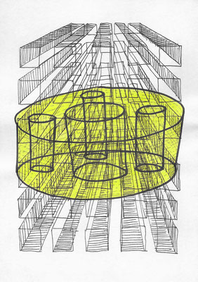Micro Zone #023 Ink on paper 210 x 148 mm (A5) 2014, 2015