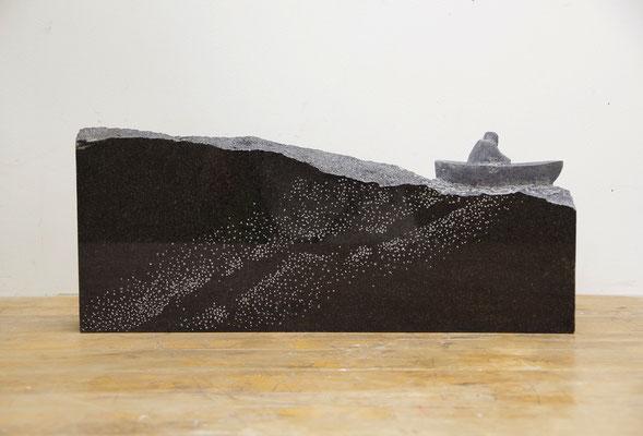 航海 Cruising  2018 黒御影石 granite  W480x D200xH70(mm)
