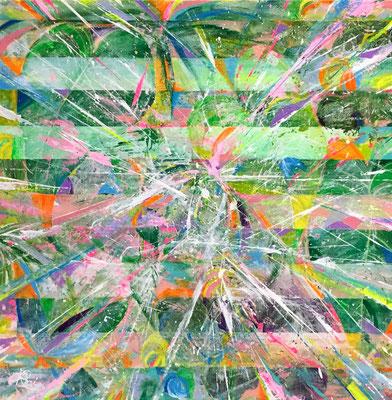 『 shingapore 』acrylic on canvas (45.5cm×45.5cm/S8)  第23回 アートムーブコンクール 入選作品