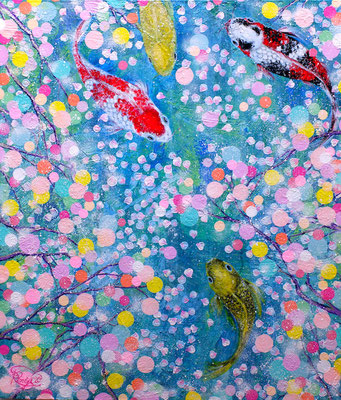 『 春宵一刻 〜luscious midspring night〜 』acrylic on canvas (53.0×45.5cm/F10)