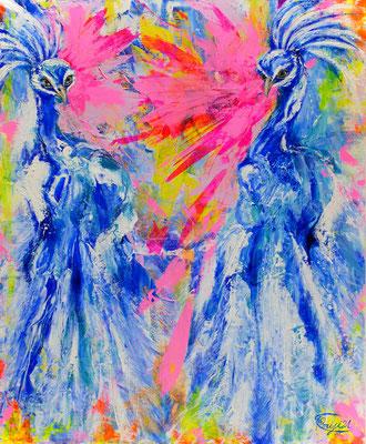 『 La vie joyeuse 』acrylic, mixed media on canvas (60.6cm×50.0cm/F12)