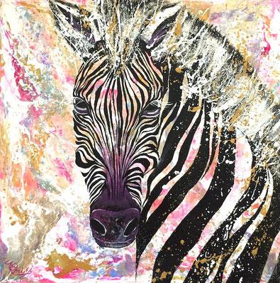 『 parhelion 』acrylic on canvas (45.5cm×45.5cm/S8)   第24回 アートムーブコンクール ダイム賞受賞作品
