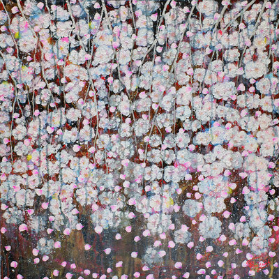『 unbroken beginning 』acrylic, mixed media on canvas (60.6cm×60.6cm/S12)
