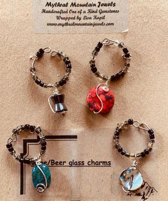 Wine Glass Gemstone Charms (4) Photo 3 $25