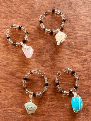 Wine Glass Gemstone Charms (4) Photo 2 $25