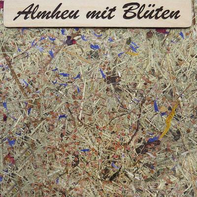 """Kräuter-Beschichtung """"Almheu mit Blüten"""", natürliche Oberfläche mit Almheu und Wiesenblüten"""