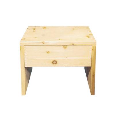 Zirben-Nachttisch mit einer Schublade