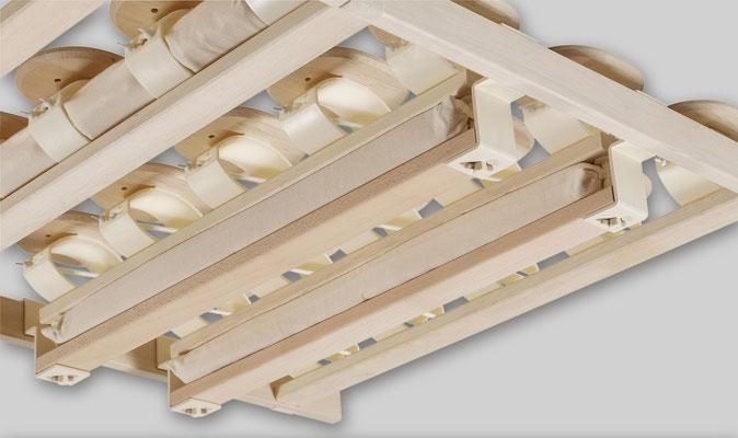 RELAX 2000 mit Komfort-Schulterzone: Detail-Ansicht von unten