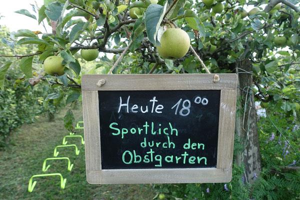 Sportlich durch den Obstgarten
