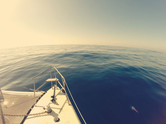 Flaute auf dem Atlantik