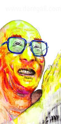 Gyatso V    Acrílico sobre tela 50x100 cm   ©2016 daregall.com