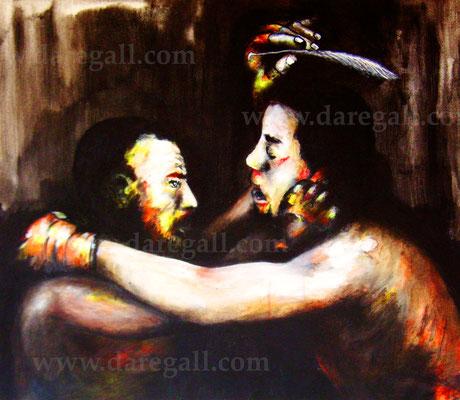 'McGregor VS Diaz IV' Técnica mixta sobre tela 81x66 cm     ©2016 daregall.com