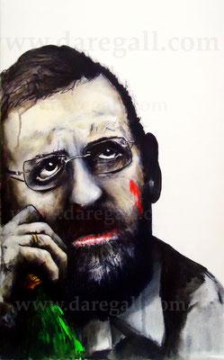 Rajoy I   Acrílico sobre tela 41x73 cm          ©2016 daregall.com