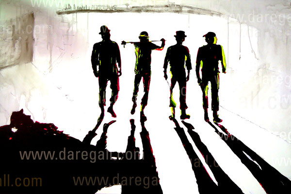 Naranja mecánica IV    Acrílico sobre tela 150x100 cm   ©2016 daregall.com